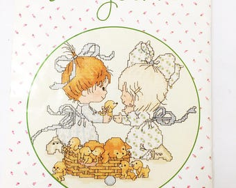 Vintage Counted Cross-Stitch book.  Designs by Gloria & Pat.  Angelove.  Angel love.  Cross stitch patterns.  Life's little treasures.