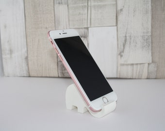 3D Printed Elephant mobile phone/ cellphone stand, mobile desk tidy/ stand/ display, great gift