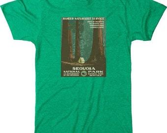 Sequoia National Park Vintage Poster Men's Tri-blend T-Shirt