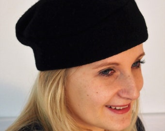 Small black beret