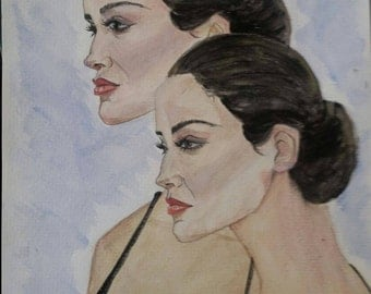 Watercolor painting, Double Vision
