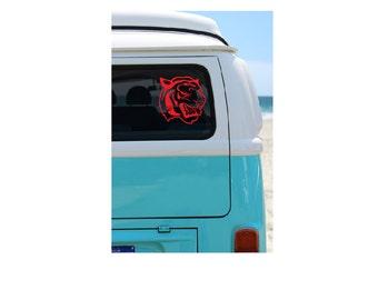 Tiger Vinyl Decal, Yeti, vehicle Decal, Tiger Decal, Transfer, Car Decal, Tiger Vinyl Sticker, Patriotism, DIY, Team Mascot