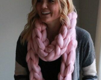 Chunky Knit Scarf - Merino Wool Scarf - Chunky Merino Wool Scarf
