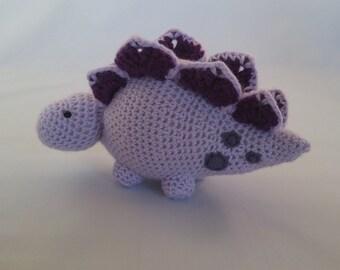 Crochet Dinosaur, Stegosaurus, Stuffie, Stuffed Toy, Dino Toy, Gift