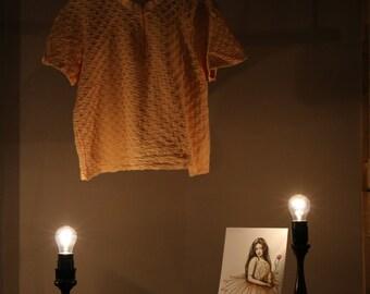 True vintage 90s L T-Shirt apricot oversize hipster shirt top summer