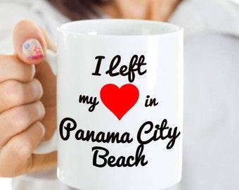 Panama City Beach Mug - Panama City Beach Souvenir Gift - I Left My Heart in Panama City Beach - For the Florida Spring Breaker