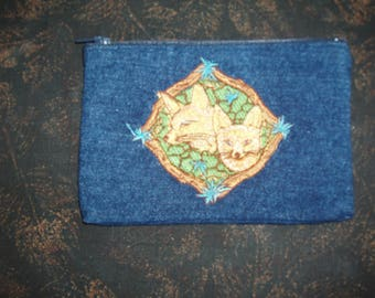 Fox Embroidered Coin Purse