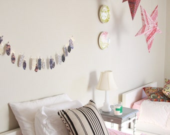 Feather Garland Fairy Lights Boho Dorm Decor Tribal Bedroom