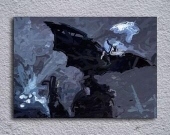 Batman Framed Painting Print