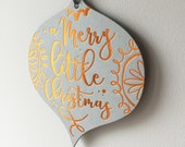Christmas Decoration Greetings Card - A Merry Little Christmas