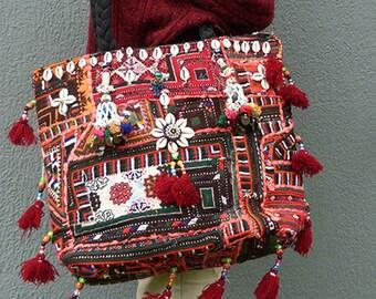 Boho Bag Vintage Hippie Gypsy Style Indian Banjara Shoulder Crossbody Bag