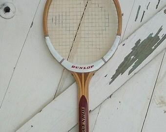 Vintage tennis racquet wood Dunlop McEnroe