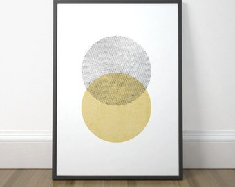 Modern Abstract Printable, Scandinavian Circle Print, Modern Circle Printable Art, Minimalist Circle Art, Instant Download, Digital Print
