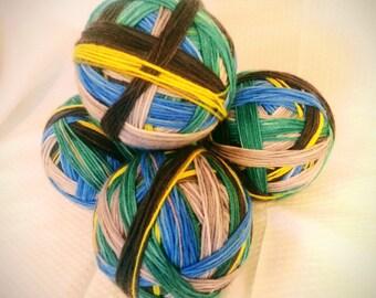 Self-Striping Hand Dyed Yarn / School Days