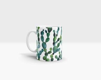 Cactus Mug. 11oz Ceramic Mug.