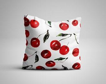 Cherries Cushion.