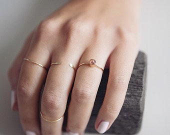Sunstone Ring | 14K Gold Filled | Stacking Ring | Happiness | Gemstone Ring | Minimalist Ring | Gift For Her