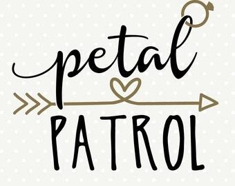 Patrol SVG file, DIY Bridal Party Gifts, Flower Girl cut file, Wedding ...