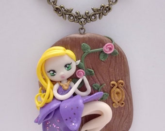 Elf polymer clay necklace