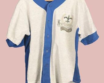 Vintage French Quarter New Orleans Baseball Jersey T-Shirt