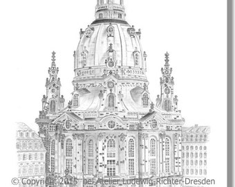 Frauenkirche Dresden - original signed art print