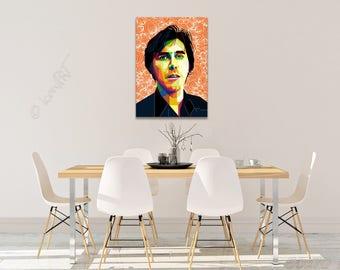 Tribute to Bryan Ferry FRAMED ART, personalized gift, name, pop art, Wall Art, Personalisierter Kunstdruck, gift for women, gift for men