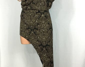 Gilded Luxe Latin Ballroom Dress Women's Size 4-6