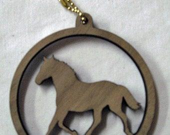 Horse Wood Ornament
