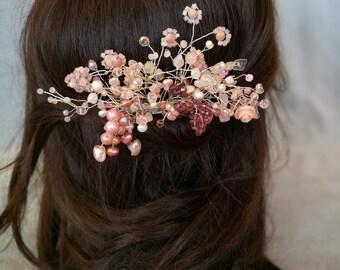 Rose gold, wedding hair pieces, bridal accessories, hair clips, pin up hair, bridal hair combs, wedding jewelry, rose gold jewelry, hairpin