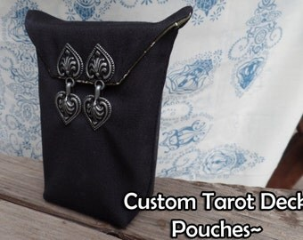 Custom Tarot Pouch / Bag with Double Clasp Closure