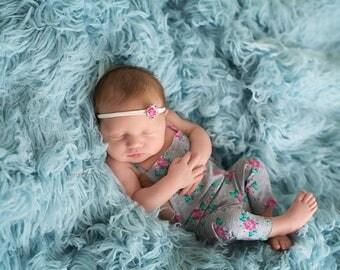 Newborn girls romper / photography prop