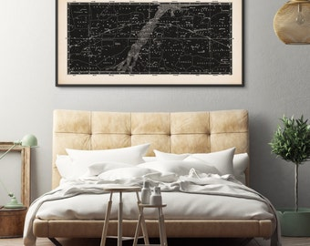 framed art constellation art star map print panoramic star chart star chart constellation print celestial map astronomy print large