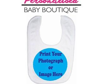 Personalised Baby Bib - We print any custom photo or image you like