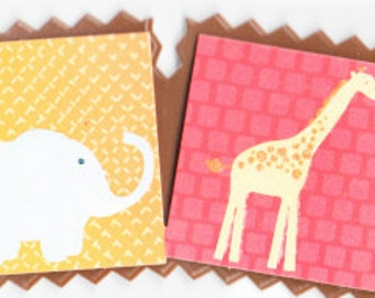 Zoo Animals Title  DCWV Safari Kids Scrapbook Stickers Embellishments Cardmaking Crafts