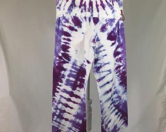 Tie-Dye Yoga Pants Small  - Capri - Foldover waist