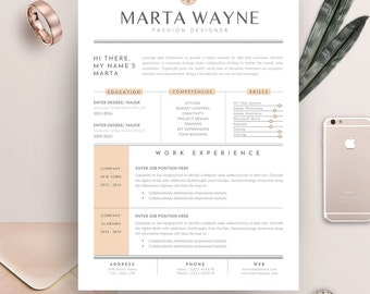 resume template 3 pages for fashion designer cv template cover letter for ms word - Fashion Designer Resume Sample