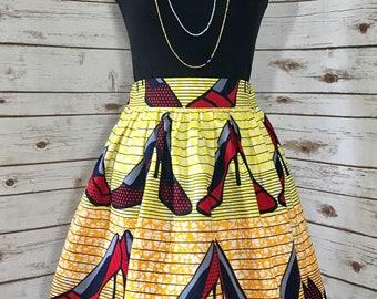 Fashionista African Print Ankara Mini Skirt w/Pockets