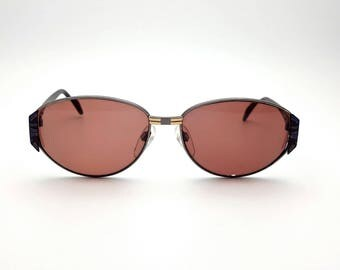 Prescription Sunglasses Silhouette Made in Austria 90s Vintage Blue and Black Plastic Glasses Frames Eyewear Nerd Hipster Eye Glasses