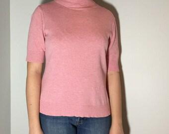 Pink Turtleneck - Vintage clothing