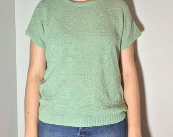 Green Women Soft T-Shirt - Vintage clothing