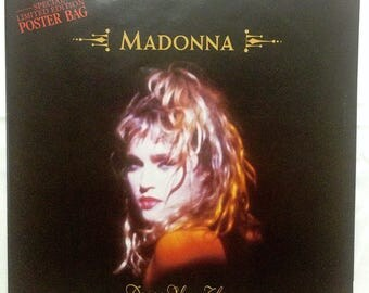 "Rare Madonna 1985 UK 12"" Vinyl Special LIMITED EDITION Poster Bag Sleeve ""Dress You Up"", Huge Poster Vintage Madonna 80s Memorabilia"