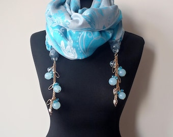 Scarf-necklace 257