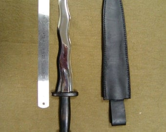 """The curve of the dagger Rumpelstiltskin or Dark Mage """"Once Upon a Time"""",  Flaming Dagger, Hand forged dagger, High Quality Blade, Stainless"""