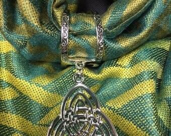 Scarf Charm- Triple Trinity Knot