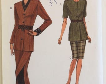 Very Easy Vogue sewing pattern 8718 - Misses' petite top and skirt - size 14-16-18