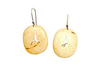 White Coconut Earrings