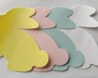 10 Pack Bunny Die Cuts Rabbit Shapes Easter Bunny Die Cuts Craft Supply Paper Die Cuts (37)