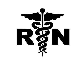 Registered Nurse RN svg outline laptop cup decal SVG Digital Download Cuttable Files Cricut Silhouette