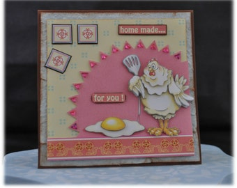 Easter card / Easter / Easter / spring / spring / birthday / birthday card / Easter card / greeting card / chicken / hen / egg / egg