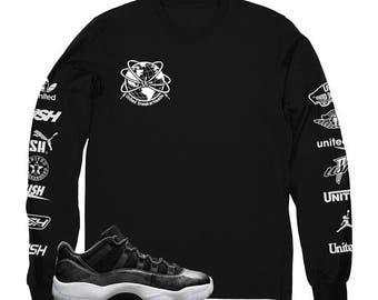 "Jordan 11 Barons USH ""WorldWide"" Long Sleeve Shirt"